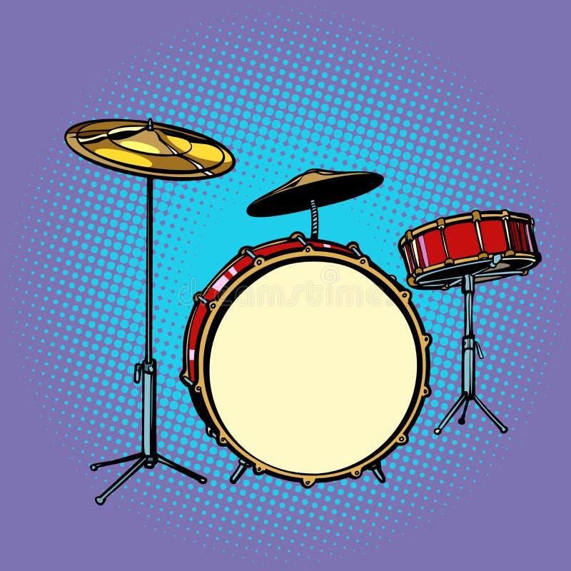 Музыкальный инструмент барабанчика установленный бесплатная иллюстрация