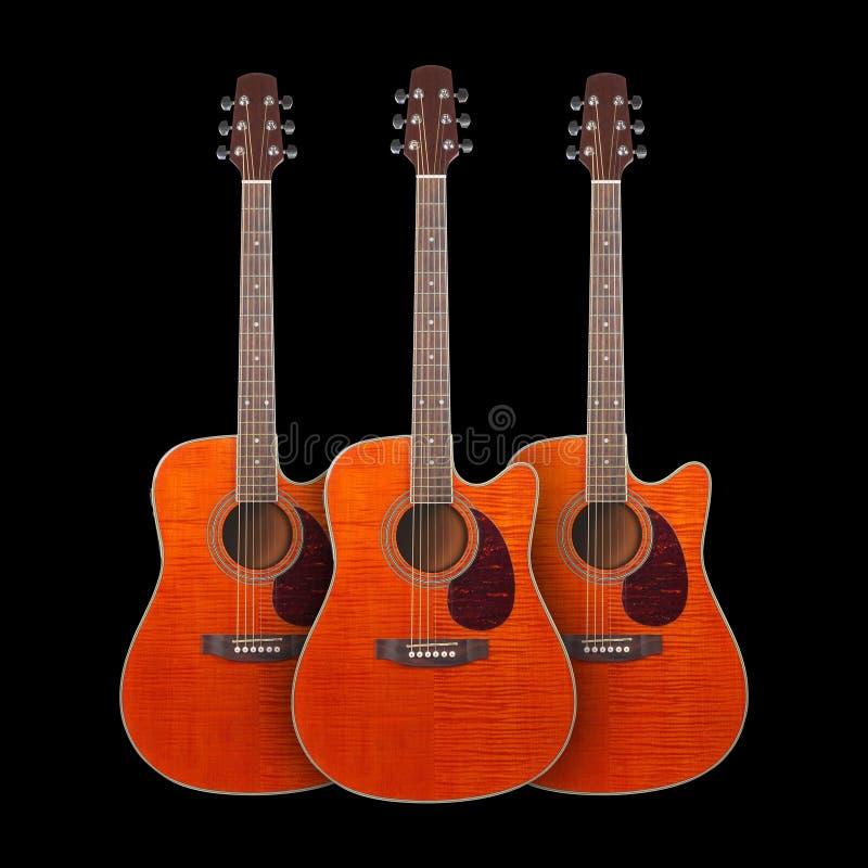 Музыкальный инструмент - cutaway акустический g клена пламени 3 апельсинов стоковое изображение