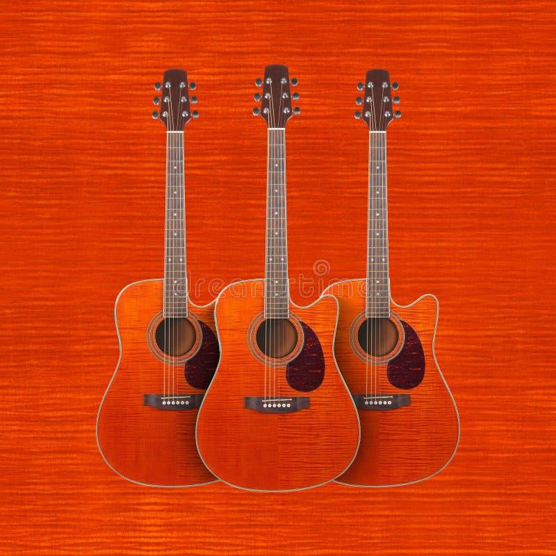 Музыкальный инструмент - cutaway акустический g клена пламени 3 апельсинов стоковая фотография rf