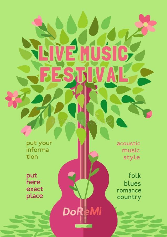 Музыкальный фестиваль весны бесплатная иллюстрация