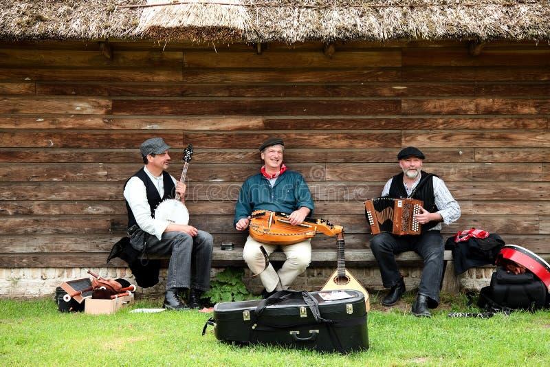 музыканты фольклора стоковые изображения