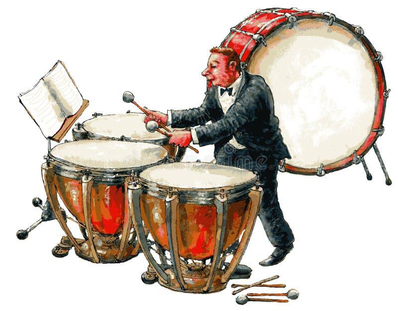 музыкант иллюстрация штока