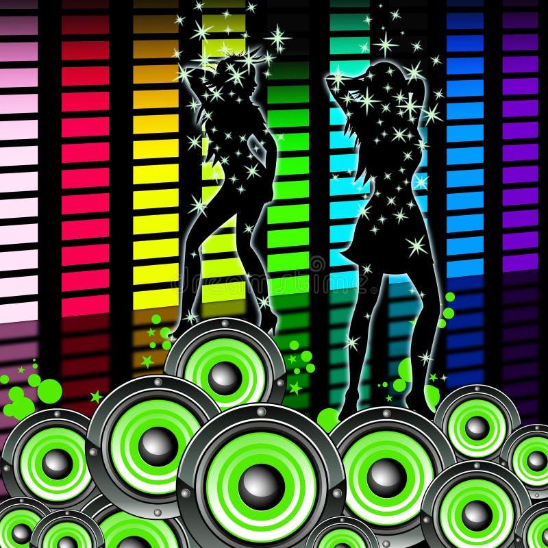 Музыка выравнивателя показывает звуковую дорожку и выравнивает иллюстрация штока