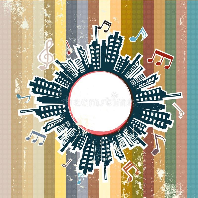 Музыка в городе иллюстрация штока