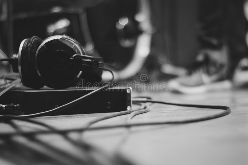 Музыка в студии стоковая фотография