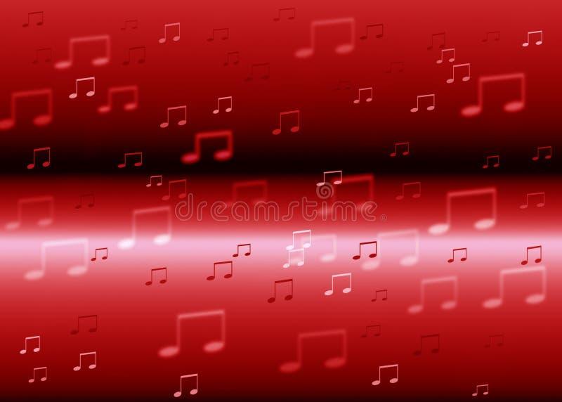 Музыка замечает предпосылку иллюстрация вектора