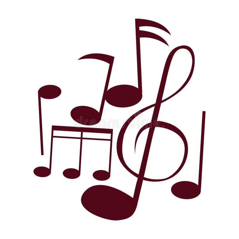 Музыка замечает собрание иллюстрация вектора