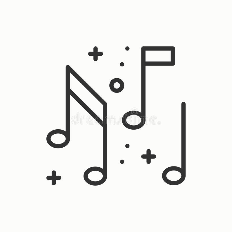 Музыка, значок примечаний Диско, танец, клуб ночной жизни Масленица события праздников дня рождения торжества партии праздничная  иллюстрация штока