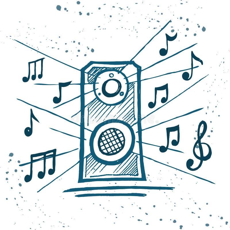 Музыка игры дикторов музыки бесплатная иллюстрация