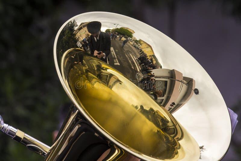 Музыка и отражения стоковая фотография rf