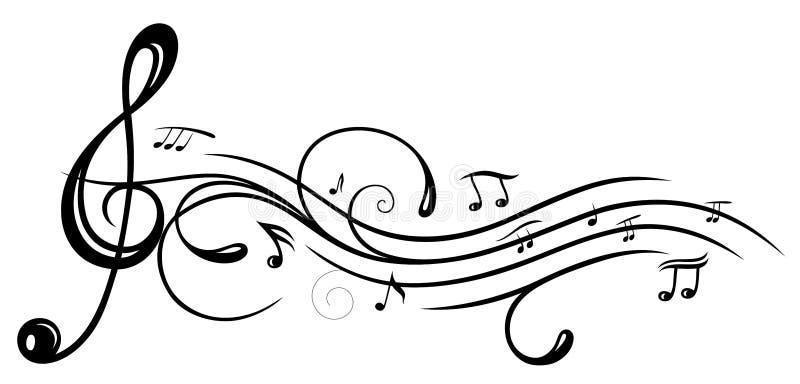 Музыка, ключ иллюстрация штока