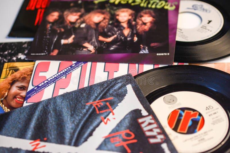 Музыка от ep 1988 45 определяет шипучку и утес музыки стоковые изображения