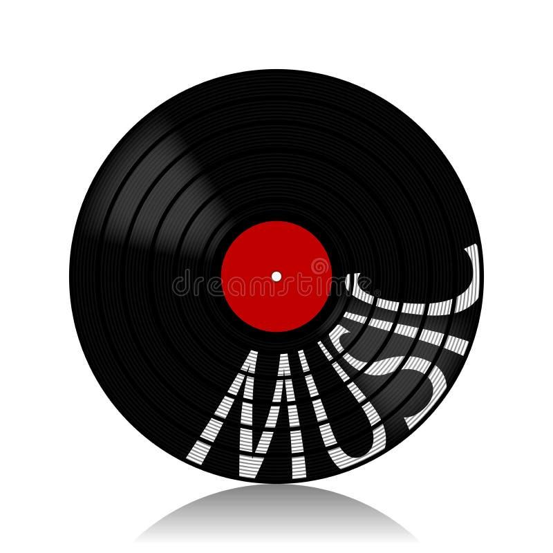 Музыка показател-LP винила бесплатная иллюстрация