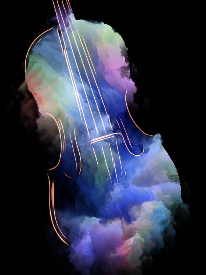 Музыка сделала видимый иллюстрация вектора
