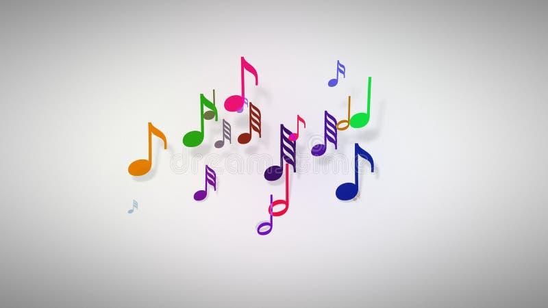 Музыкальные примечания с глубиной поля бесплатная иллюстрация
