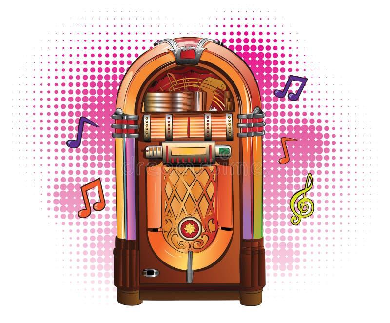 музыкальный автомат ретро иллюстрация вектора