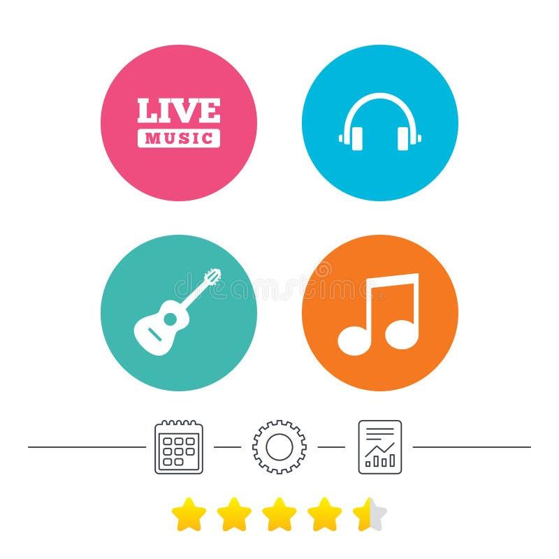 Download Музыкальный значок элементов Примечание и гитара музыки Иллюстрация вектора - иллюстрации насчитывающей мелодия, шлемофон: 81804396