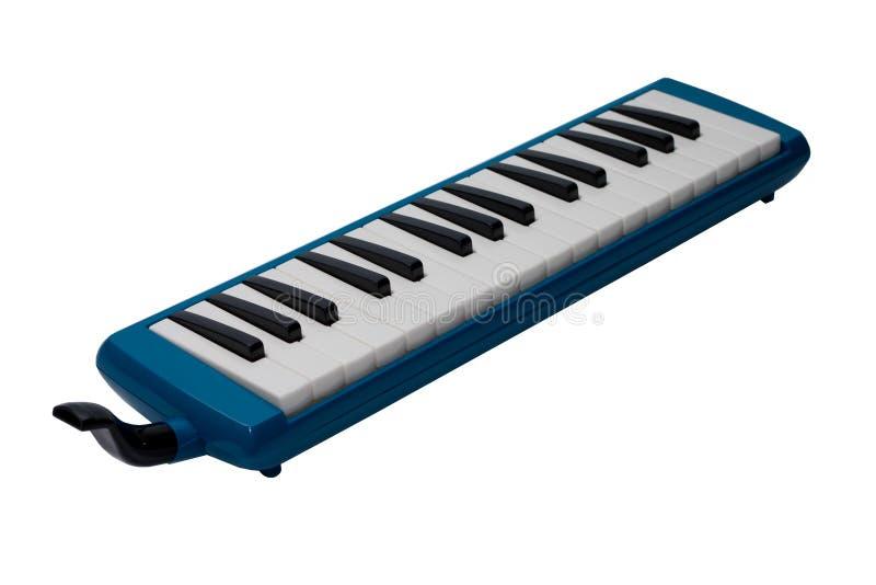 Музыкальный инструмент Melodica изолированное на белой предпосылке стоковое изображение rf