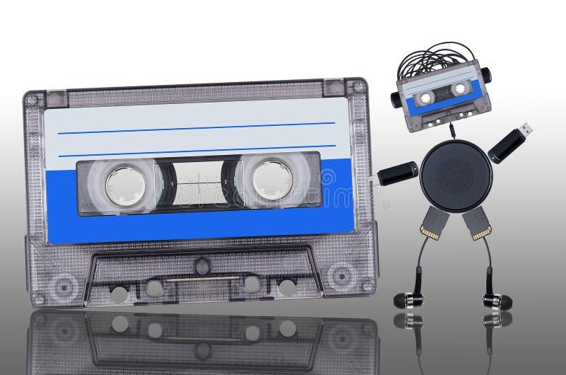 Музыкальный фан робота стоковая фотография rf