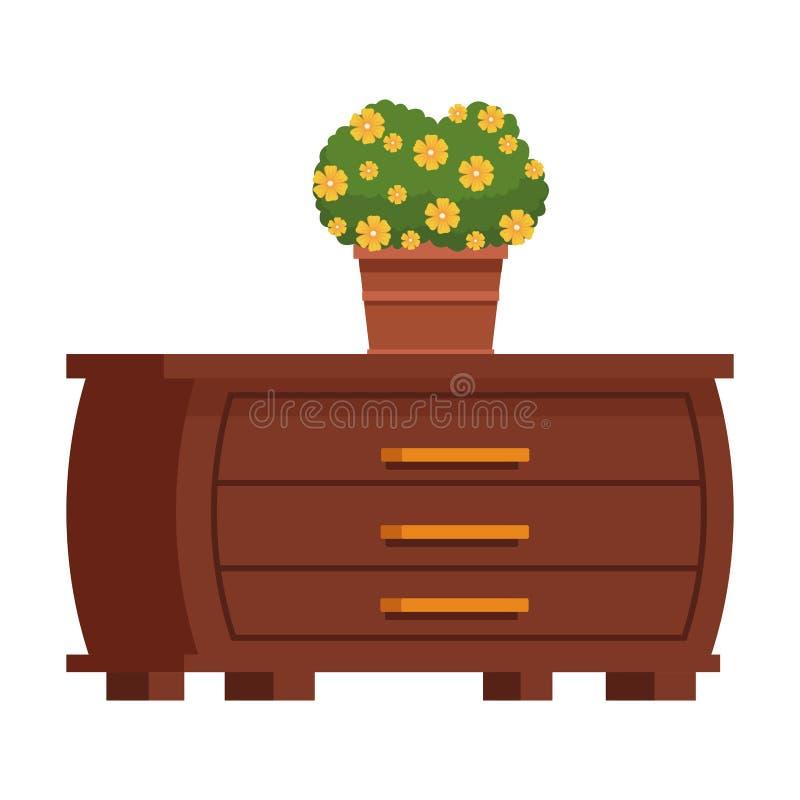 Мультфильм значка дома мебели внутренний иллюстрация вектора