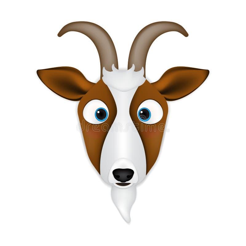 Мультфильм козы главный иллюстрация вектора