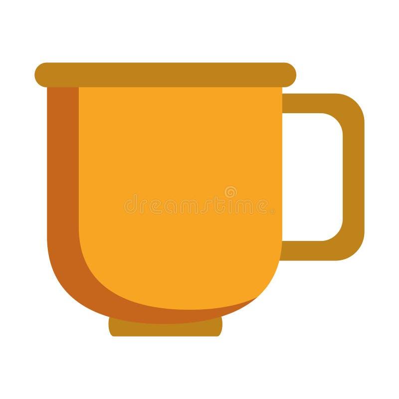Мультфильм кружки кофе фарфора стеклянный бесплатная иллюстрация