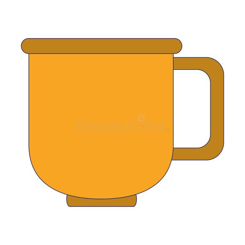 Мультфильм кружки кофе фарфора стеклянный иллюстрация вектора