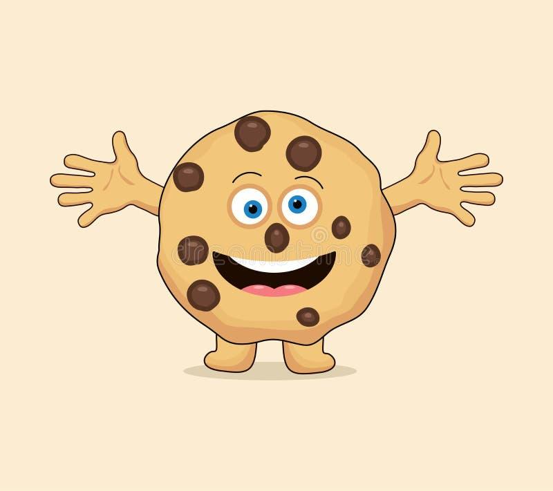 Мультфильм печенья обломока шоколада вектора весь иллюстрация штока