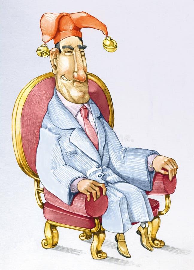 Мультфильм поддельного руководителя политический иллюстрация штока