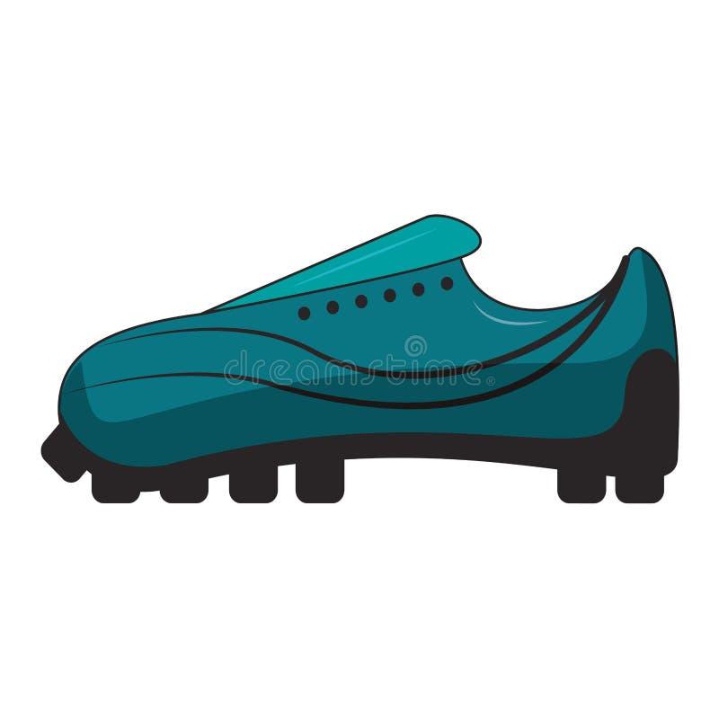 Мультфильм спорта ботинка футбола изолированный обувью бесплатная иллюстрация