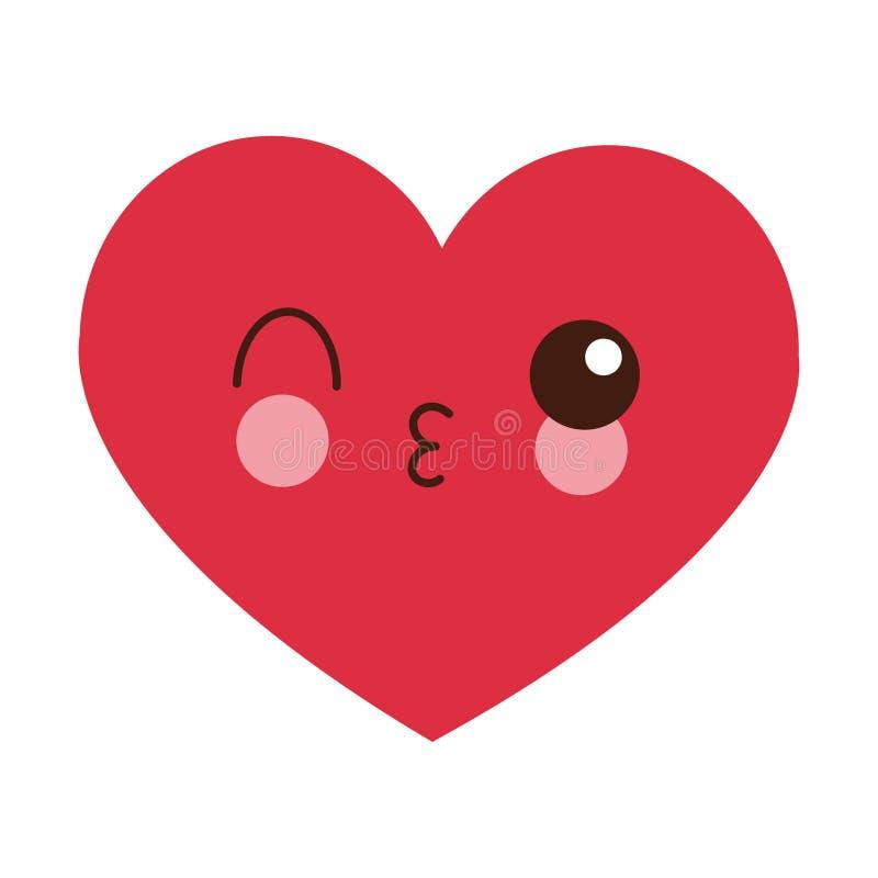 Мультфильм kawaii сердца flirting бесплатная иллюстрация