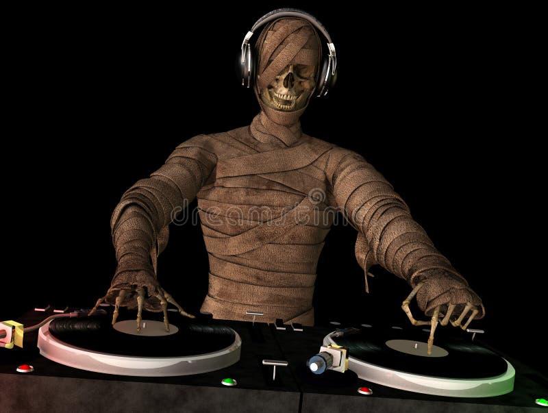 Мумия DJ иллюстрация вектора