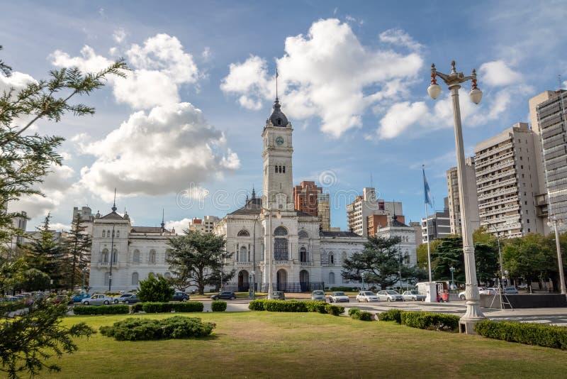 Муниципальный дворец, ратуша Plata Ла - Ла Plata, провинция Буэноса-Айрес, Аргентина стоковые изображения rf