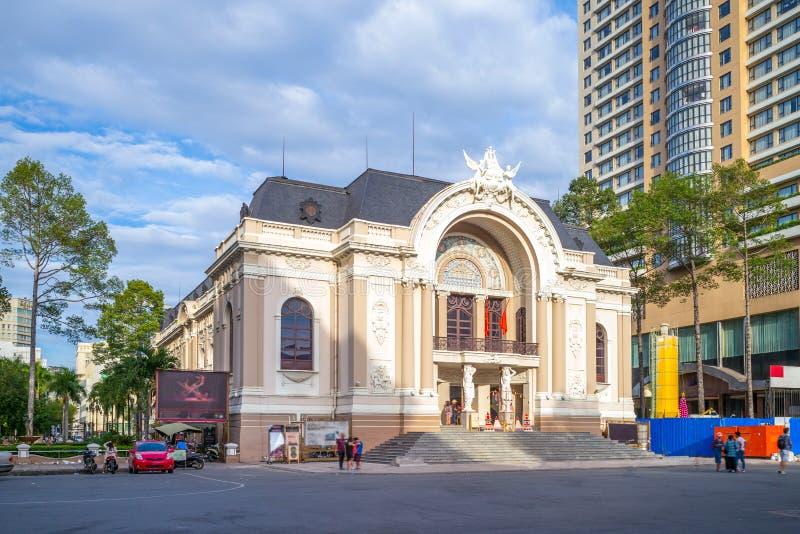 Муниципальный театр Хошимина стоковое изображение