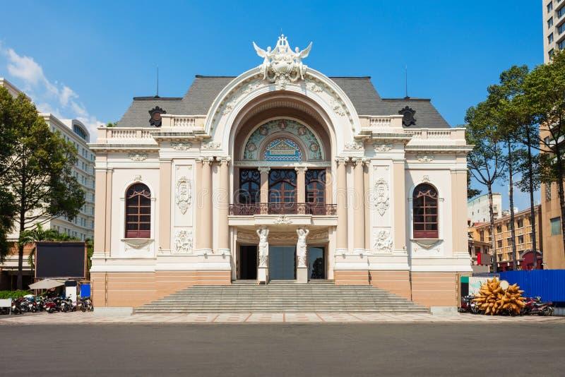 Муниципальный театр, Хо Ши Мин стоковое изображение rf