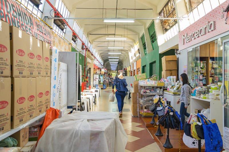 Муниципальный рынок известный как Shangri-Ла в городе Londrina стоковое изображение rf