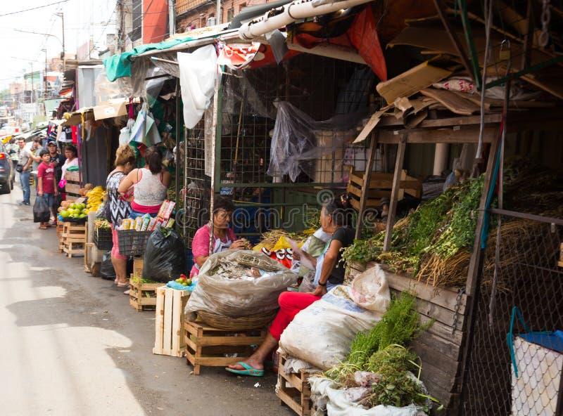 Муниципальный рынок Mercado 4 в Асунсьон, Парагвае стоковое фото rf