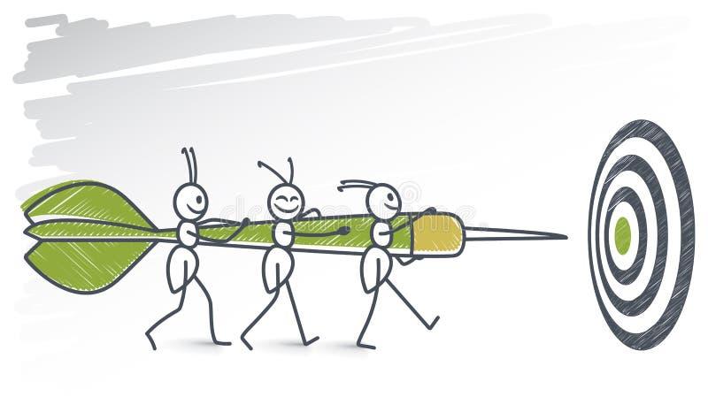 Муравьи и picado иллюстрация штока