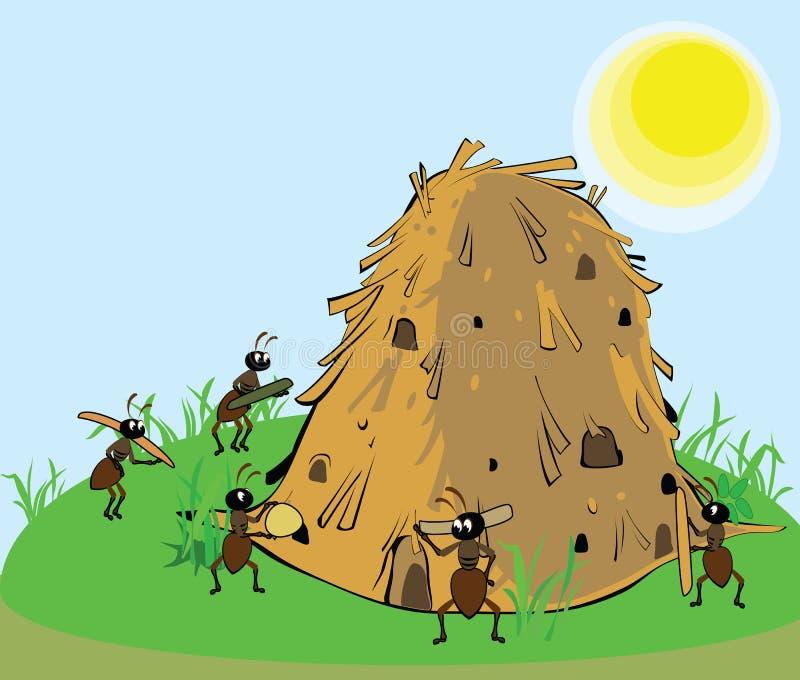 Муравьи строя anthill бесплатная иллюстрация