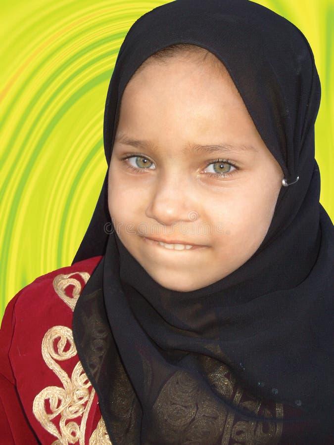 Мусульманская девушка стоковое изображение