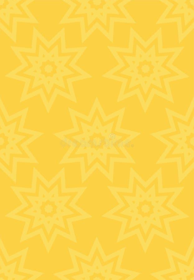Мусульманская предпосылка золота безшовная Традиционная восточная картина исламское украшение дизайна иллюстрация вектора