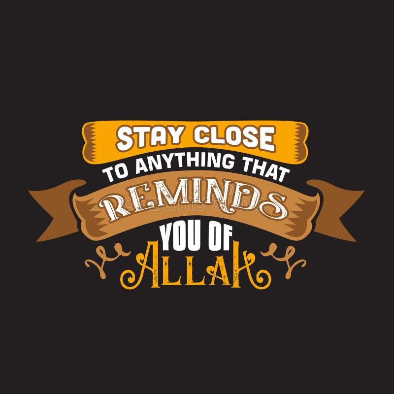 Мусульманская цитата и говорить хорошие для дизайна украшения бесплатная иллюстрация