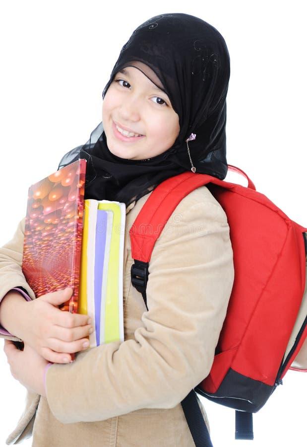 мусульманская школьница стоковые фото
