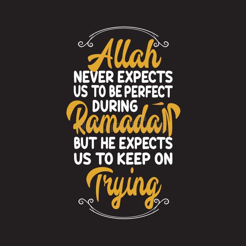 Мусульманские торжество, цитата Рамазан и говорить хорошее для дизайна печати иллюстрация вектора