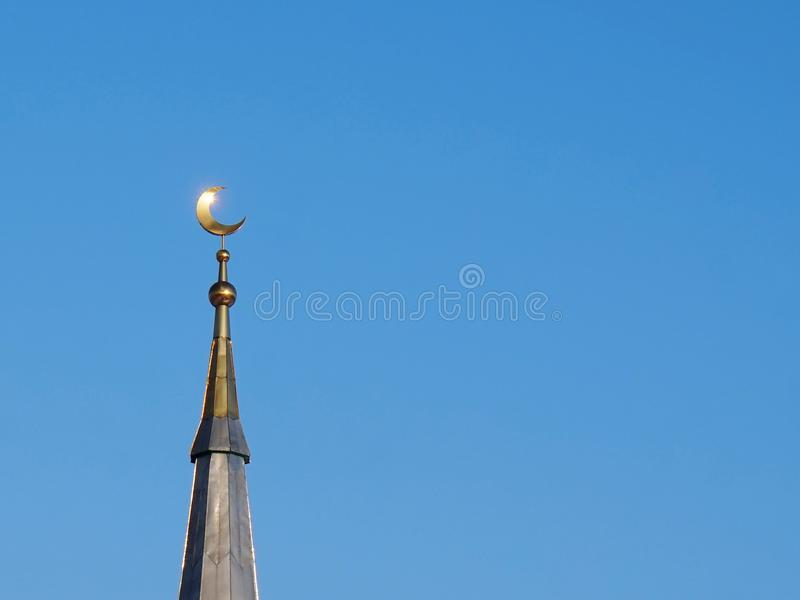мусульманство мечеть Золотой полумесяц стоковое изображение rf