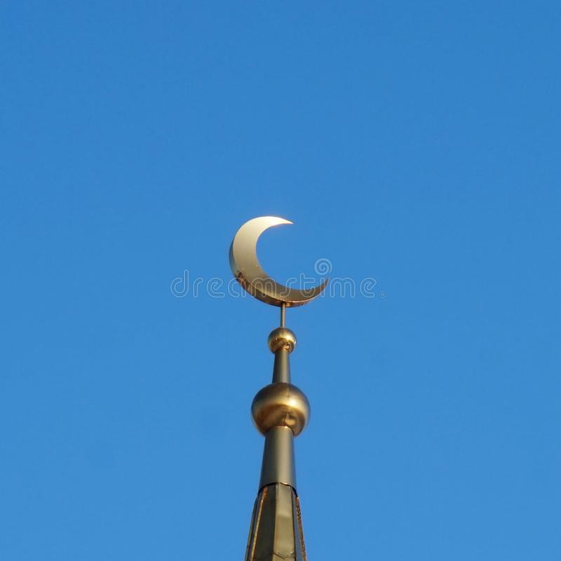 мусульманство мечеть Золотой полумесяц стоковые изображения