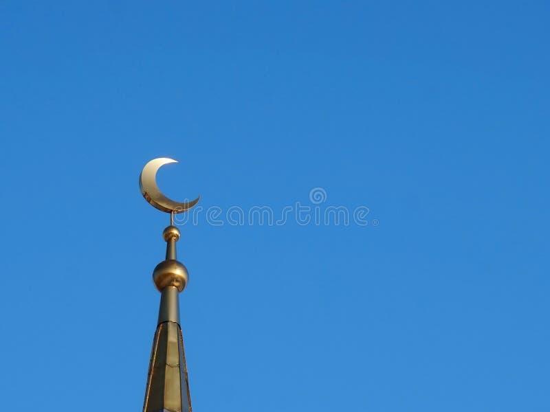 мусульманство мечеть Золотой полумесяц стоковые изображения rf