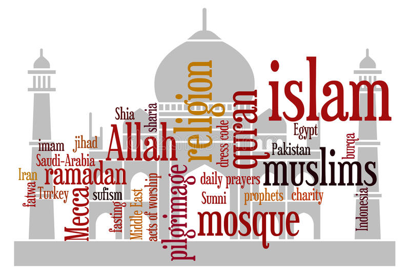 мусульманство иллюстрация штока