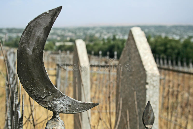 мусульманство cementery стоковое изображение
