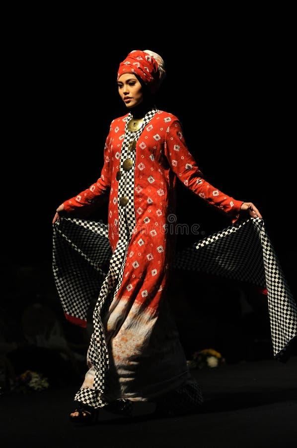 Мусульманский фестиваль моды в Индонезии стоковое изображение